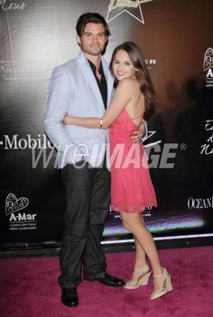 VIEQUES, PUERTO RICO - SEPTEMBER 04: Daniel Gilles and Rachael Leigh Cook pose at the Hollywood Domino Gala & Tournament at the W Retreat & Spa Hotel on September 4, 2010 in Vieques, Puerto Rico. (Photo by Alexander Tamargo/WireImage)