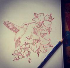 43 Super Ideas Humming Bird Sketch Hummingbird Drawing - Image 14 of 20 Mom Tattoos, Future Tattoos, Body Art Tattoos, Sleeve Tattoos, Tatoos, Tattoo Sketches, Tattoo Drawings, Drawing Sketches, Drawing Drawing