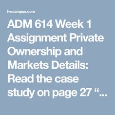 """ADM 614 Week 1 Assignment Private Ownership and Markets  Details:  Read the case study on page 27 """"Protecting Endangered Species with Private Property Rights."""" Write an essay 1,000-1,250 words, answering the following questions:  Economists argue that scarcity is different than poverty. To understand why many wild animals are scarce we need to look at scarcity in the context of private property. Explain how scarcity is affected by private property rights in the case study. Compare and…"""