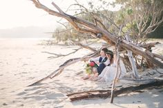 So in love with Sam and Craig's amazing North Stradbroke Island wedding <3 Total beach wedding inspo right here! Can't wait to share more.  #wedding #weddingphotographer #weddingphotography #bride #groom #stradbrokeisland #birdandboyphotography