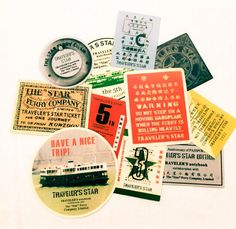 11pcs RETRO TRAVEL STICKERS Vintage Ferry by cOveTableCuriOsitiEs