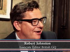 Interview with the wonderful Robert Johnston, Associate Editor of British GQ. ©Franklynlane