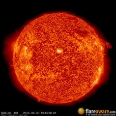 The hourly sun (at 10:45 am  UTC on  7 June 2013)