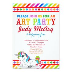 Gather guests with amazing birthday invitations from Zazzle! Birthday party invitations in a range of themes! Invitation Card Birthday, Unicorn Birthday Invitations, Baby Shower Invitation Cards, Unicorn Birthday Parties, Invites, Girl Birthday, Birthday Ideas, Rainbow Unicorn Party, Unicorn Art