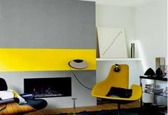 Color decoration living room gray and yellow painting - Home Page Living Room Grey, Living Room Decor, Bedroom Decor, Bedroom Ideas, Easy Diy Room Decor, Home Decor, Deco Cool, Vintage Bathroom Decor, Kitchen Ornaments