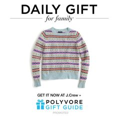"""""""The Daily Gift: J.Crew Crewneck Sweater"""" by polyvore-editorial ❤ liked on Polyvore featuring J.Crew and dailygift"""