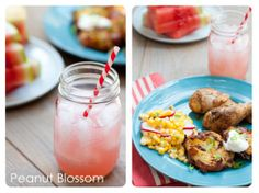 Fresh sides for summer BBQ by Tiffany Dahle @PeanutBlossom for The Inspired Plate July Challenge