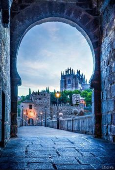 Toledo was such a cute and historic town! I can't wait to go back. [Church of San Juan de los Reyes viewed along Puente de San Martin, Toledo, Spain] Places Around The World, Oh The Places You'll Go, Travel Around The World, Places To Travel, Places To Visit, Around The Worlds, Madrid, Wonderful Places, Beautiful Places