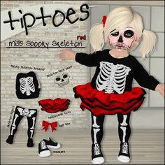 b74b0e44ae Second Life Marketplace - . tiptoes - Miss Spooky Skeleton - Purple