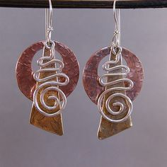 Mixed metals earrings