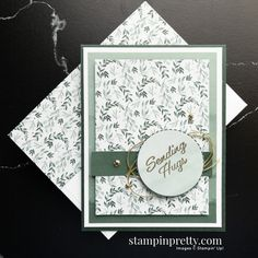 Eden\'s Garden Early Release Collection from Stampin\' Up! Sending Hugs Card by Mary Fish, Stampin\' Pretty