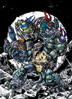 Turtles vs. Slash by `mooncalfe on deviantART
