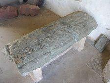 North Berwick Parish Kirk, North Berwick, East Lothian, Scotland:  Old Kirk Grave Slab of a Knight of the 1200s