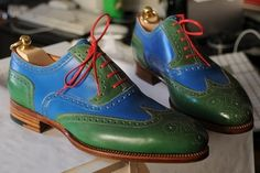 Handmade Men,s Two tone formal shoes, Men Spectator shoes Men dress leather shoe - Dress/Formal