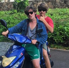 Ty Simpkins and Nick Robinson in Hawii