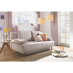 Das Polstermöbel macht eine ausgezeichnete Figur in Ihren vier Wänden. Die Rücken- und Armlehnkissen runden das elegante Design perfekt ab und sorgen für eine gemütliche Atmosphäre. Ausgesprochen komfortabel: Dank der bequemen Federkernpolsterung ist das Möbel besonders gemütlich und lädt zum Entspannen ein. Ob im Schlafzimmer oder im Gästezimmer: Mit diesem Schlafsofa setzen Sie stilvolle Akzente in Ihrem Zuhause!