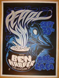 Pearl Jam and Ben Harper concert poster