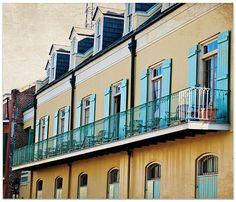 La Nouvelle-Orléans, Louisiane, petit jaune abrite, NOLA, 8 x 10 fine art print