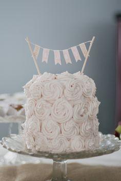 Three layer vegan baby shower cake // Belle + Beau