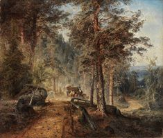 Finnish National Gallery - Art Collections - Road in Häme (A Hot Summer Day) Classic Paintings, Paintings I Love, Landscape Art, Landscape Paintings, National Gallery, Google Art Project, Berg, Famous Artists, Artwork Design