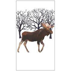 Paperproducts Design Luxury Guest/Hand Towels (Set of x Multicolor, Winter Moose Hand Towel Sets, Hand Towels, Paper Guest Towels, Winter Horse, Luxury Towels, Plate Design, Can Design, Paper Decorations, Moose Art