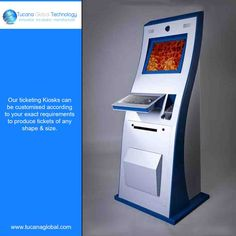 Our ticketing #Kiosks can be #customised according to your #exact requirements to produce tickets of any shape & size. #TucanaGlobalTechnology #Manufacturer #HongKong