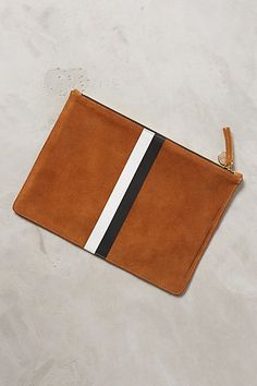 striped flat clutch by clare vivier #anthrofave