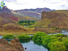 Rio Limay, cerca de piedra del Águila, en el departamento de Collón Cura.