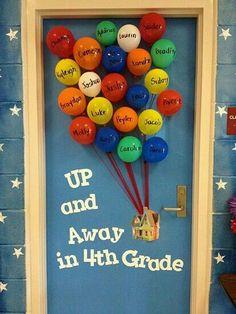 up movie door school decoration Decoracion  para la puerta de la escuela de la pelicula UP
