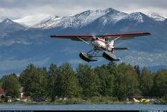 Cessna U206F Stationair float plane, Alaska