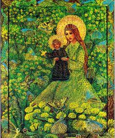 The Golden Green Mother of God by Wislawa Kwiatkowska.