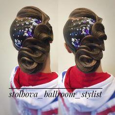 Работаю на Кубке Санкт-Петербурга! Вallroom hairstyle by Darya Stolbova Имидж-студия @artecreo За - stolbova_ballroom_stylist