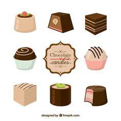 Resultado de imagen para dibujos dulzuras en chocolate vintage
