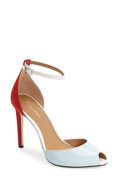 Free shipping and returns on Calvin Klein 'Sirena' Ankle Strap Pump (Women) at…