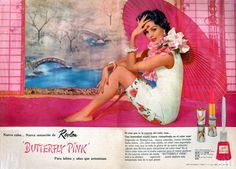 "Mexican ad for Revlon ""butterfly pink"", which, oddly enough, doesn't show any butterflies."