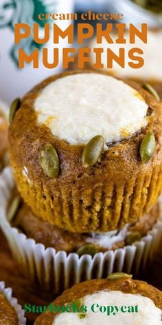 Copycat Pumpkin Cream Cheese Muffins are my favorite pumpkin muffin recipe with a cheesecake filling! These easy muffins are a Starbucks Copycat and are the perfect easy breakfast or brunch muffin recipe for fall!