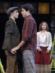 Amanda Quaid (Rosalind), Noel Velez (Orlando), and Miriam Silverman (Celia), As You Like It,  directed by Derek Goldman, Folger Theatre, 2007. Stan Barouh.