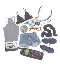 """""""there is someone watching your footsteps"""" by coffee-crumbs ❤ liked on Polyvore featuring Monki, Levi's, Dot & Bo, Chanel, indie, grunge, 90s, alternative and 90"""