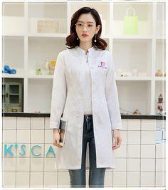 6d5c2a6d90e6b Women's Winter Stand Collar Long sleeve sleeve nurse uniform dental clinic  doctor's uniform slim fit doctor