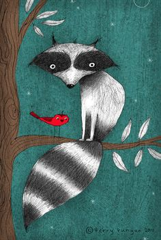 CUSHY TAIL--Terry Runyan Prints:  http://society6.com/TerryRunyan/CUSHY-TAIL#1=45