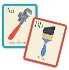 Tool Alphabet Cards