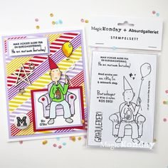 AnMa - Blog - Stamps from MagicMonday, card created by Gry.  Stemplene finnes her: http://www.anma.no