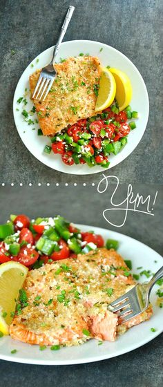 Flaky salmon slathered in creamy dijon mustard and topped with crispy panko and fresh herbs. Skip the boring salmon & add some oomph with this yummy recipe!