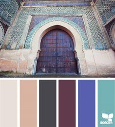 Oosterse kleuren.  Color scheme idea