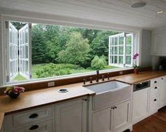 The type of window I'd like over the kitchen bench