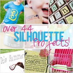 Over 40 Silhouette Projects! Join the Silhouette craze today.