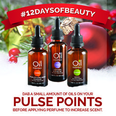Dab a small amount of oils on your pulse points before applying #perfume to increase scent. #12DaysOfBeauty