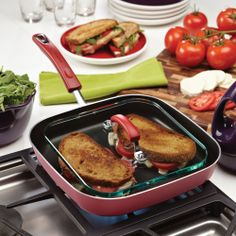 New And Hot Sale!Porcelain Enamel Nonstick Square Deep Griddle and Glass Press