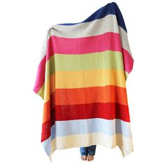 Rocket and Bear  http://my-lovely-wool-shop.myshopify.com/collections/large-crochet-blankets/products/rainbow-stripe-blanket-3-panel