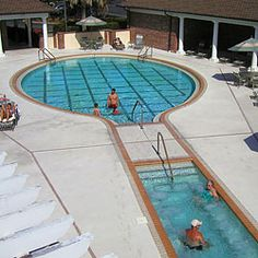A tennis racquet shaped swimming pool!  LOVE this so much!